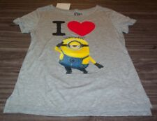WOMEN'S TEEN DESPICABLE ME I LOVE MINIONS T-shirt SMALL NEW w/ TAG