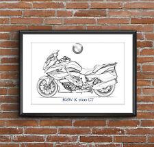 BMW K1600GT BMW Motorrad Art Sketch Poster [without frame]
