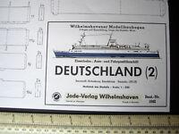 MS Deutschland (2) Ferry. Wilhelmshavener Modellbau Jade Vintage 1960s/70s