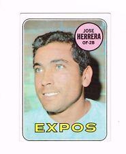 1969 TOPPS BASEBALL CARD # 378 JOSE HERRERA EXPOS OUTFIELDER & SECOND BASEMAN