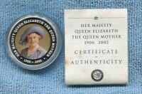 1900-2002 $1 Queen's Mother 1oz Silver Coloured Coin Cook Islands