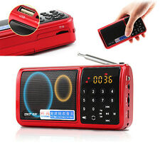 Rechargeable Portable FM/AM/SW Radio Hi-Fi Digital Audio MP3 Music Player USB/TF