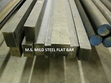 """MS MILD STEEL 1 x 1-1/2 x 12"""" FLAT BAR STOCK COLD ROLLED FOR CNC MACHINE SHOP"""