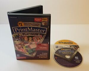 Encore PrintMaster v7 Platinum 7.0 PC DVD-Rom Mac Windows desktop publishing