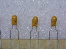 Lot x10:condo condensateur tantale goutte 22µF 22uF 22MF 16V pas 5.08mm en bande
