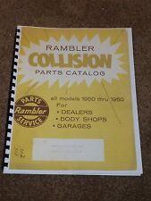 1950-1960 Rambler Parts Catalog for American,Classic,Ambassador,Rebel,Part #s...