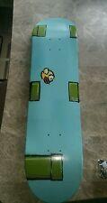 Flappy birds custom painted skateboard deck 7 7/8 width 1 of a kind