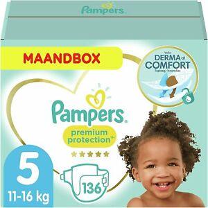 Pampers Premium Protection Taglia 5, 136 pannolini, 11- 16 kg