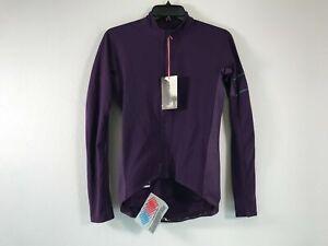 Men's Rapha Pro Team Long Sleeve Full Zip Thermal Jersey - Size S - Purple