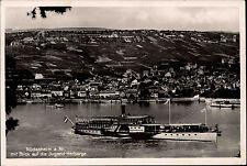 Schiffe Rhein 1933 Dampfer Schiff CRIEMHILDE passiert Jugendherberge Rüdesheim