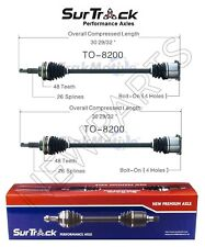 Pair of Rear CV Axle Shafts for 2004-2009 Toyota Sienna AWD SurTrack Set