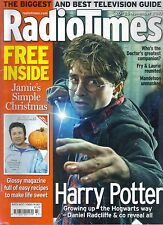 Radio Times November 2010. Harry Potter, Doctor Who companions