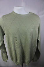 NEW IZOD GREEN COTTON TEXTURE SWEATER  SIZE SMALL NWT RETAIL $70
