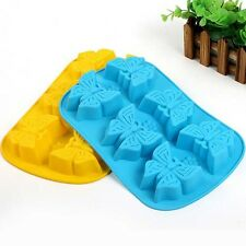 1PC Butterfly Cake Mold Soap Flexible Silicone Mould For Candy Chocolate Cake