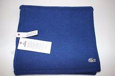 NWT $75 LACOSTE 54x10 Women's Blue Wool Cashmere Rabbit Hair GATOR Logo Scarf