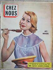 Chez Nous n°11 (16/22 mars 1961) Jeanne Moreau - Phonographe au microsillon