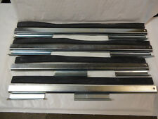 JAGUAR MK2 & DAIMLER V8 DOOR GLASS REGULATOR CHANNEL RUBBER FULL SET