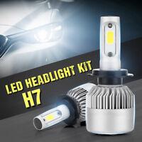 H7 8000LM 36W Front COB LED Headlight Kit Bulbs High/Low Beam 6500K Lamp CA