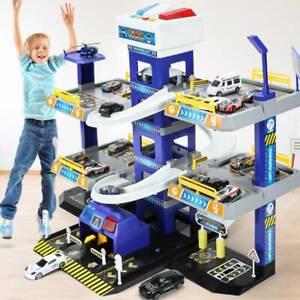 Race Track City Car Park Garage Toy Race Car Ramp Track Parking Lot for Boys