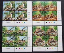 1995 Malaysia WWF Panda Logo Animals Clouded Leopard 16v Stamps CTO Block BR
