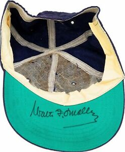 1960's Walter O'Malley Signed Los Angeles Dodgers Game Model Hat Cap PSA DNA COA
