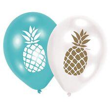 "6 Luftballons *Pineapple Vibes"" ANANAS Hawaii aufblasbare Deko Dekoration Party"