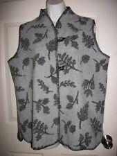 Coldwater Creek Women's Gray & Black  Print Vest Size M