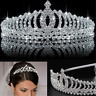 Wedding Bridal Princess Crystal Prom Hair Tiara Crown Headband with Comb US