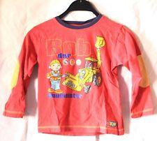 Bob der Baumeister Pullover langärmliges Jungen Kinder Sweatshirt Rot Größe 110