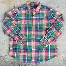 VTG 🔥RARE🔥 Ralph Lauren Polo L/S Button Up Shirt, Epaulets, Men's 2XL, XXL