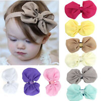 9PCS Babys Girls Chiffon Flower Elastic Headband Photography Headbands Fashion