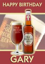 PERSONALISED BEER ENGLISH ALE OLD SPECKLED HEN BIRTHDAY CARD