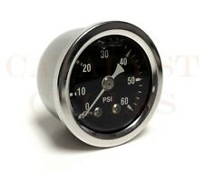 """60 PSI OIL PRESSURE GAUGE WITH 1/8"""" NPT MALE FITTING"""