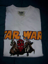STAR WARS SWEATSHIRT EMBROIDERED APPLIQUED LOGOS  LEE SIZE L COTTON BL  S SLEEVE