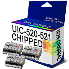 15 ink Cartridges PGI520 CLI521 CHIPPED for CANON iP4700 MP540 MP550 MP560