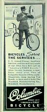 1944 WWII Columbia Bicycle/Bike French Armed Forces AD