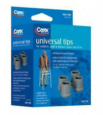 """4pc Universal Tips for Walkers Bath and Shower Seats 1 1/8"""" Chair Carex A82100"""