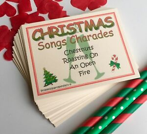 Christmas Songs Charades Day Eve New Year Party Drinking Games Virtual Zoom