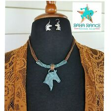 COWGIRL Gypsy  Bling horse equestrian western necklace Southwestern NECKLACE set