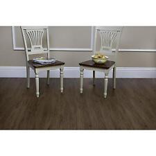 Vinyl Plank Floor Tile Mahogany Wood Grain Look & Feel Self Adhesive 15 SF NEW