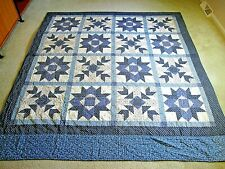 "Hand-Crafted Double/Full Size Quilt w/Multiple Block Design - 84"" x 93"""