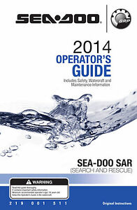 Sea-Doo 2014 SAR Search And Rescue, Owners Manual Paperback Free Shipping