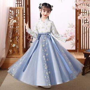 Hanfu Kids Dresses Girls Hanfu Ancient Chinese Style Traditional Princess Dress