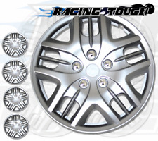 "Metallic Silver 4pcs Set #025 16"" Inches Hubcaps Hub Cap Wheel Cover Rim Skin"