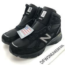 New Balance 990v4 Men's 10.5 Black Mid Boots Shoes MO990BK4 Made In USA NEW