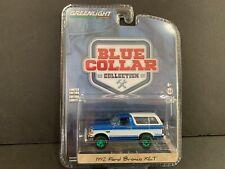 Greenlight Ford Bronco Xlt 1992 Bright Regatta Blue and White 35180 1/64 Chase