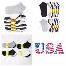 12 Pairs Boy & Girls Ankle Socks 2-3  4-6  6-8 Size White Black Gray Mix Unisex