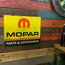 "Mopar Parts 12"" x 15"" Metal Sign, Vintage Advertising, Bar Garage Man Cave Shop"