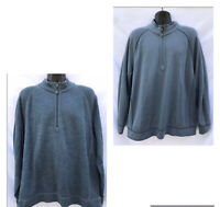 Tommy Bahama Reversible 1/2 Zip Sweater Men's XL Pullover Blue