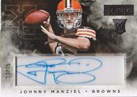 2014 Playbook Johnny Manziel Cleveland Browns auto